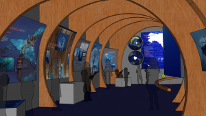 Concept Rendering of Humpbacks of Hawaii Exhibit Hall - SUBJECT TO CHANGE